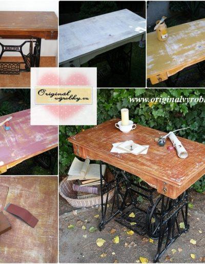 Šicí stroj jako stůl