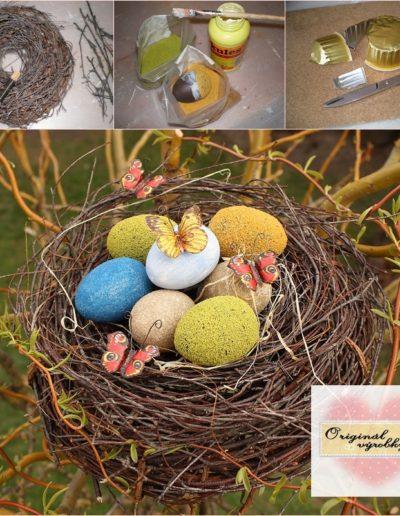 Hnízdečko s pískovými vajíčky