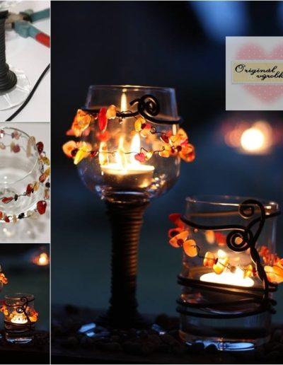 Kamínkové svícny