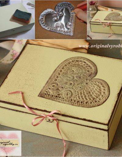 Krabička s vyrytým srdcem