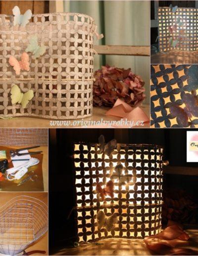 Lampička s motýlky