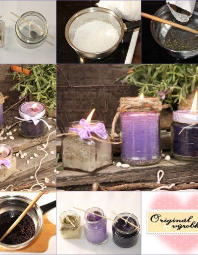 Levandulové svíčky