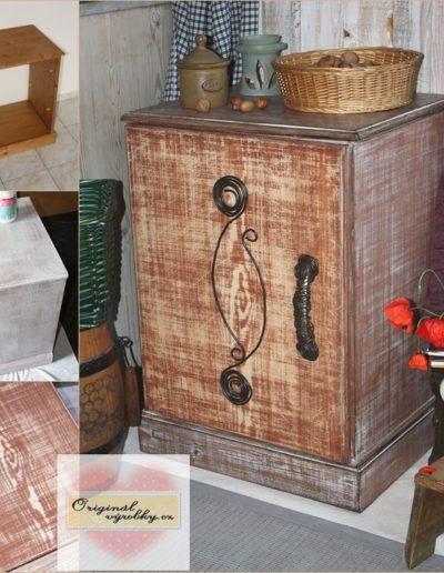 Skříňka s drátovanou ozdobou