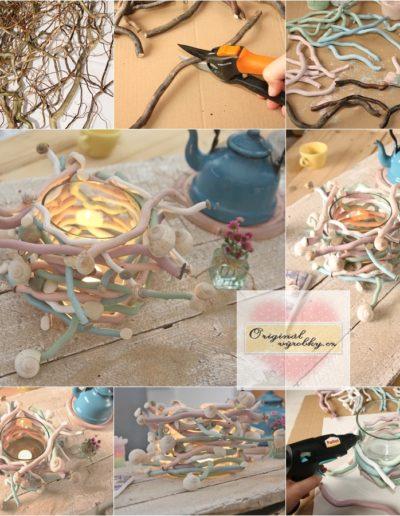 Svícen z čínské vrby - hadí tanec