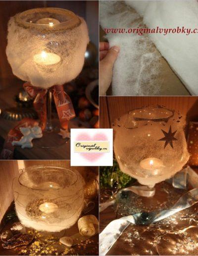Svícny z vatelínu