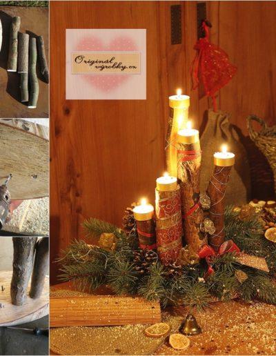 Vánoční svícen z větví