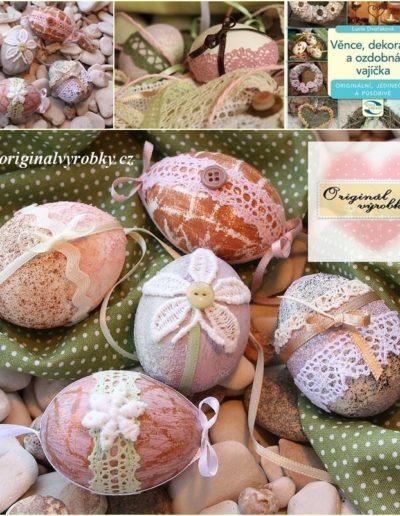 Vajíčka zdobená krajkami