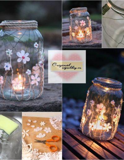 Zahradní lucerna  z pětilitrové láhve